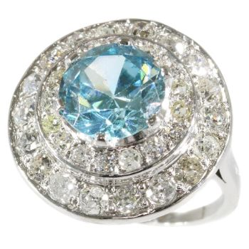 Vintage Fifties ring diamond loaded with a big starlite by Unknown Artist