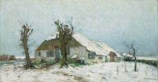 Besneeuwde boerderij by David Schulman