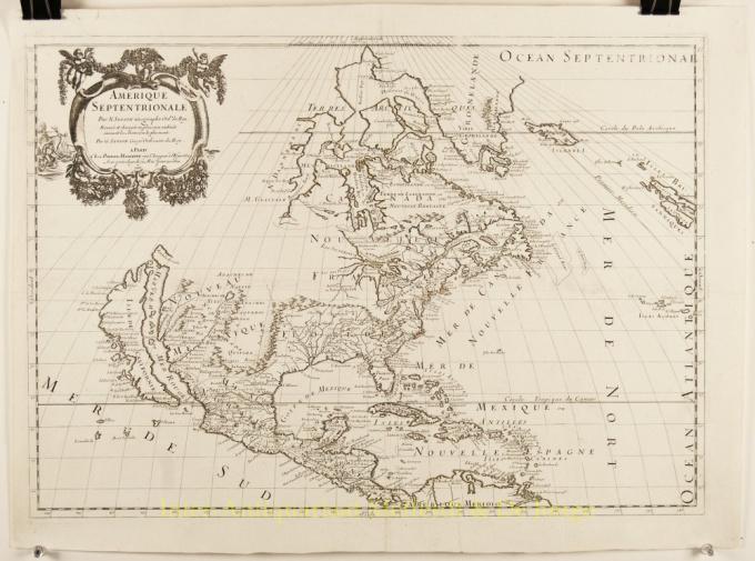 North America Antique Map by Nicolas Sanson