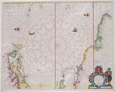 SEA CHART OF THE CARIBBEAN  by Lootsman, Theunis Jacobsz