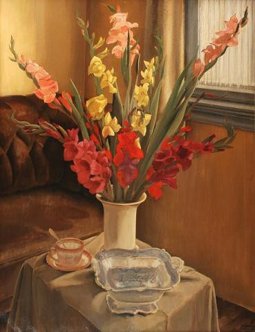 Still-life with gladioli by Harmen Meurs