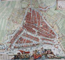 FAMOUS WALL MAP OF ROTTERDAM   by Hooghe, Romeijn de