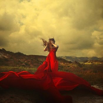 A storm to move mountains by Brooke Shaden