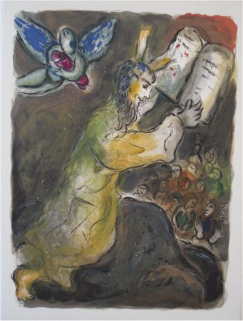 These are the the wordes which the Lorde hath commanded that ye should do them. by Marc Chagall