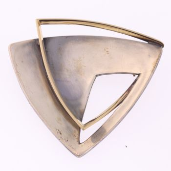 Artist Jewelry by Chris Steenbergen silver and gold brooch by Unknown Artist