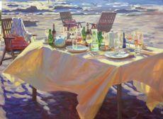 Gouden zee by Juane Xue