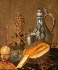 Still Life with melon and decanter, detail