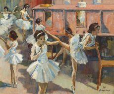 Ballerina's in de kleedkamer by Willem Dooijewaard