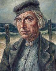 Westkapelse dijkwerker by Willem Boon