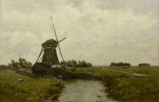 Windmill near Leidschendam by Paul Gabriel
