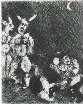 Le Satyr et le Passant by Marc Chagall