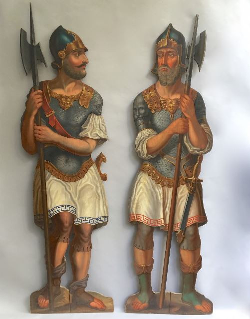 Two dummy boards of Soldiers or Guards by Unknown Artist