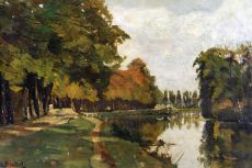 View on the river Vecht, close to Breukelen by Nicolaas Bastert