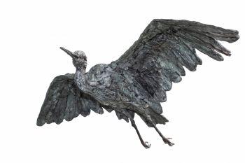 Flying Heron by Jacqueline van der Laan