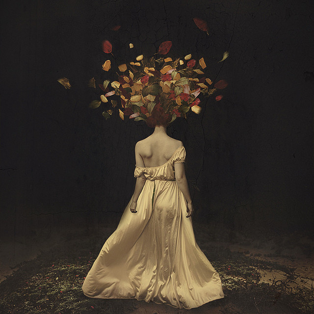 The falling of autumn darkness by Brooke Shaden