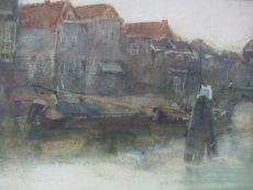 Wijnhaven in Dordrecht by George Hendrik Breitner