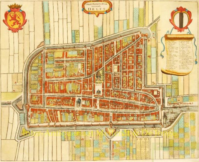 Map of Delft by Gregorio Leti