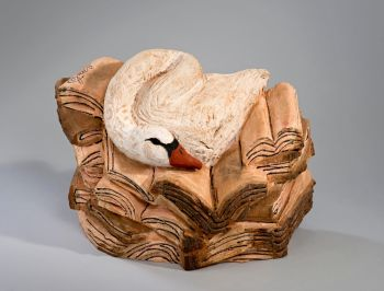 Zwaan op Boeken by Emile van de Kruk