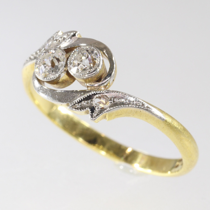 Estate engagement ring cross over or the romantic toi et moi by Unknown