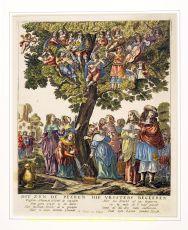 Dit zijn de peeren die vrysters begeeren kopergravure vervaardigd door Gerrit van Schagen ca. 1680 by Schagen, Gerrit van