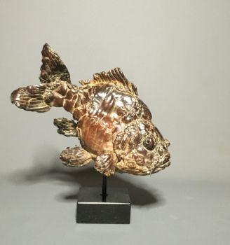 Hieronymus - Bronze Sculpture Fish - In Stock by Pieter Vanden Daele