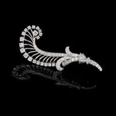 Wolfers feather brooch by Wolfers