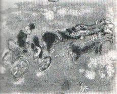 La Troika au Soir by Marc Chagall