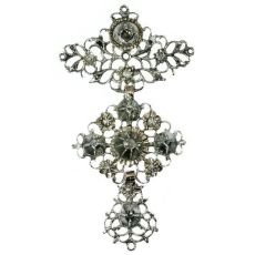 Mid 19th Century diamond cross Jeannette pendant by Unknown Artist