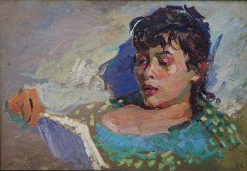 Reading girl by Alexander Pronin