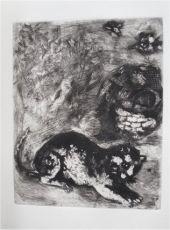 Le Chat et les deux Mouniers by Marc Chagall