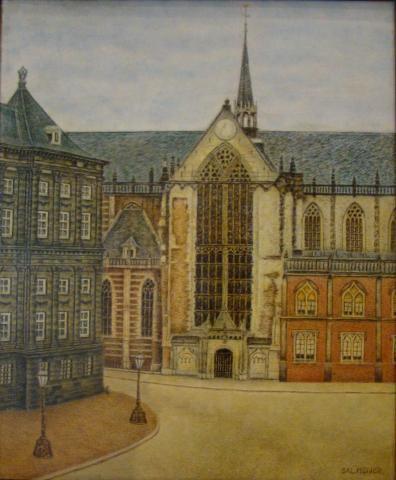 De Nieuwe Kerk, Amsterdam by Sal Meijer