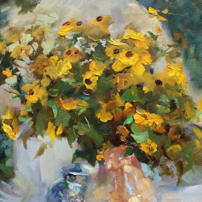 Yellow flowers by Vladimir Tchaikovsky