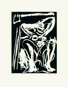 'Sitzender akt' by A.R. Penck