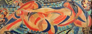 lying nude by Louis Latapie