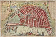PLAN TRES EXACT DE LA VILLE FAMEUSE MARCHANDE D'AMSTERDAM by Leth, Hendrick de
