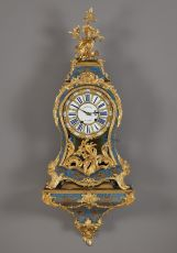 Important Ormolu-mounted Cartel Clock with Bracket