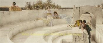 Under the Roof of Blue Ionian Water  by Lawrence Alma-Tadema