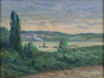 Les bords de la Seine a Rollebois by Maximilien Luce