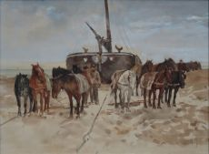 horses at a bombshell by Anton Mauve