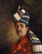 Portrait of a Punjabi in British India by Hubert Vos