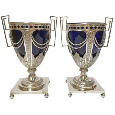A Pair of Belgian Sugarvases by Jan Baptist I Verberckt