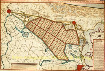 Haarlemmermeer, plan inpoldering  by  Jacob Bartelsz Veeris