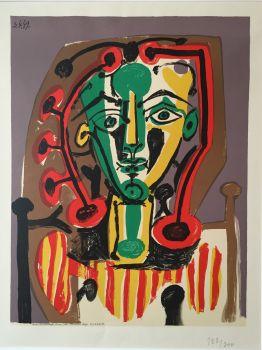 Le Corsage Rayé by Pablo Picasso