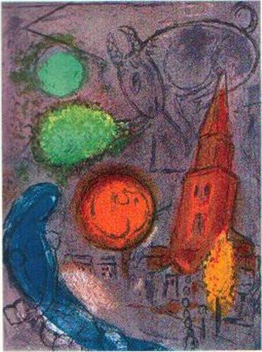 Saint-Germain des Pres, 1954 by Marc Chagall