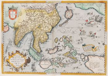 Southeast Asia map  by  Ortelius