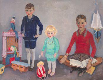 Jan, Rob and Liesje Sluijters by Jan Sluijters
