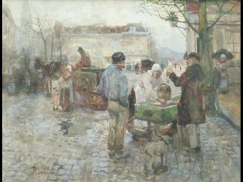 Selling Fish by Adriaan la Riviere