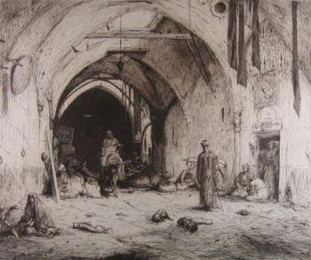 Bazar in Damascus by Marius Bauer