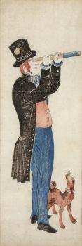A JAPANESE COLOUR WOODBLOCK PRINT, NAGASAKI-É, DEPICTING A DUTCHMAN by Unknown Artist