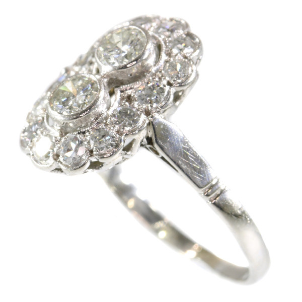 Art Deco diamond platinum engagement ring by Unknown